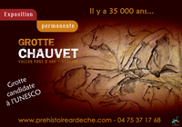 EXPOSITION GROTTE CHAUVET PONT D'ARC • pro du tourisme • VALLON PONT D ARC