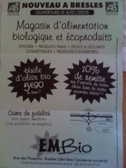 Épicerie E.M-Bio • acteurs du Commerce Equitable et du Bio • BRESLES