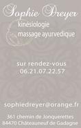 Sophie Dreyer • kinésiologue • CHATEAUNEUF DE GADAGNE